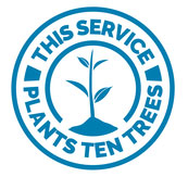 This service plants 10 trees logo
