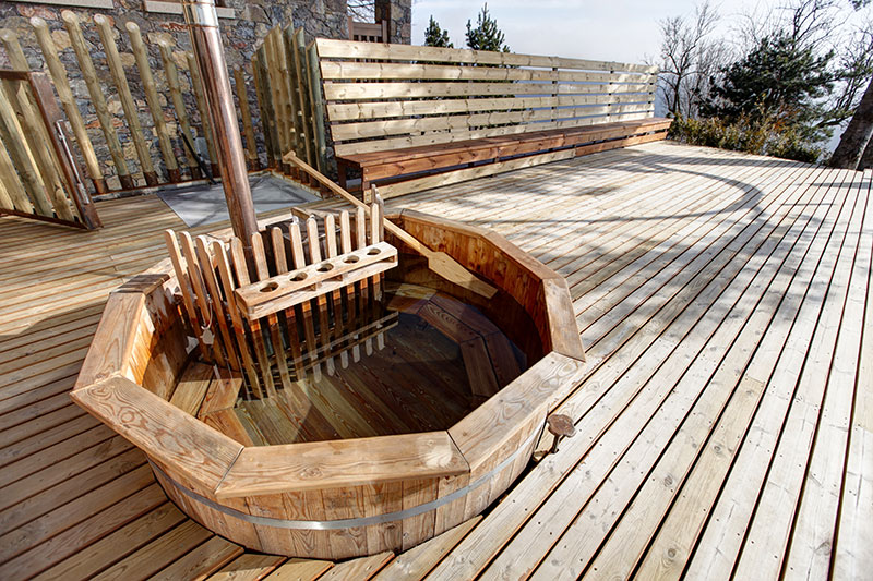 Pyrenees hot tub