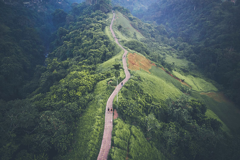 Bali running trail